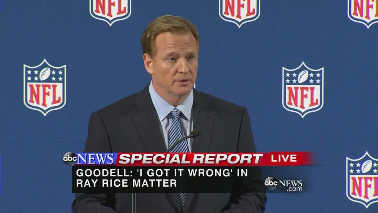 NFL Commissioner Roger Goodell press conference on domestic violence