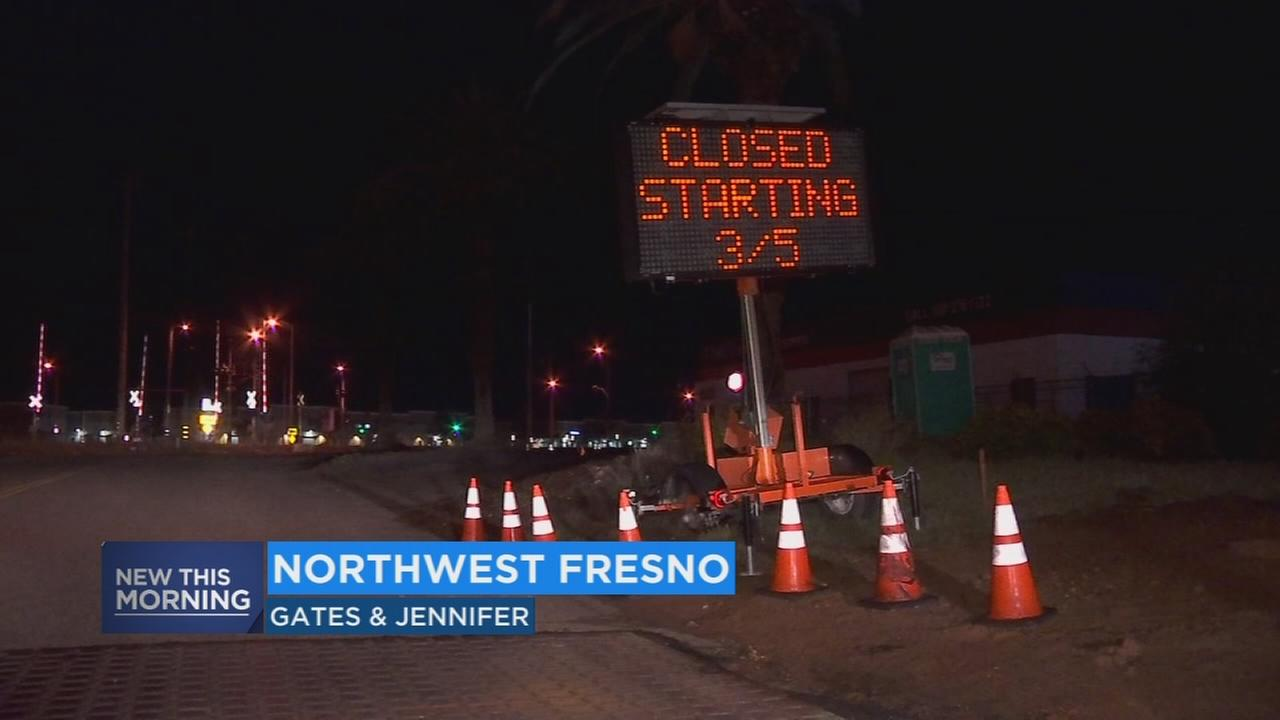 Residents in Northwest Fresno will have to deal with road closures as construction continues on High-Speed Rail