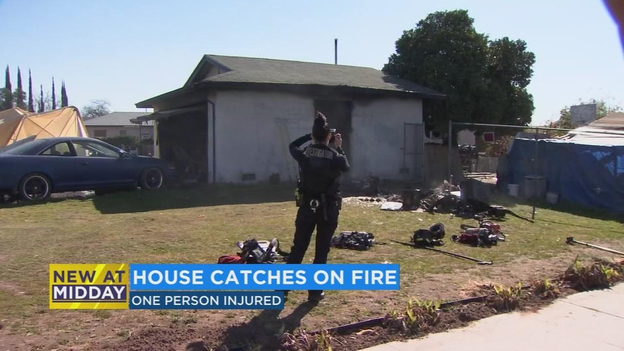 One injured in Southwest Fresno house fire
