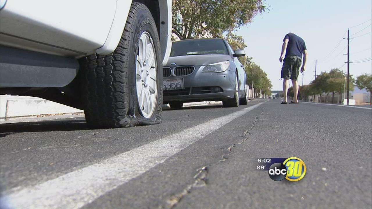 Cars have tires slashed in Downtown Fresno