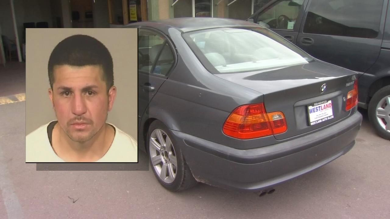 Man arrested after stealing car from dealership