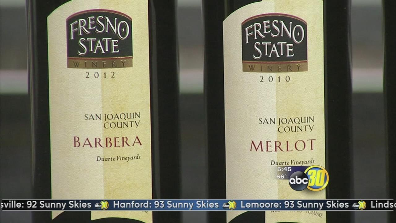 Fresno State students prepare to release new wines