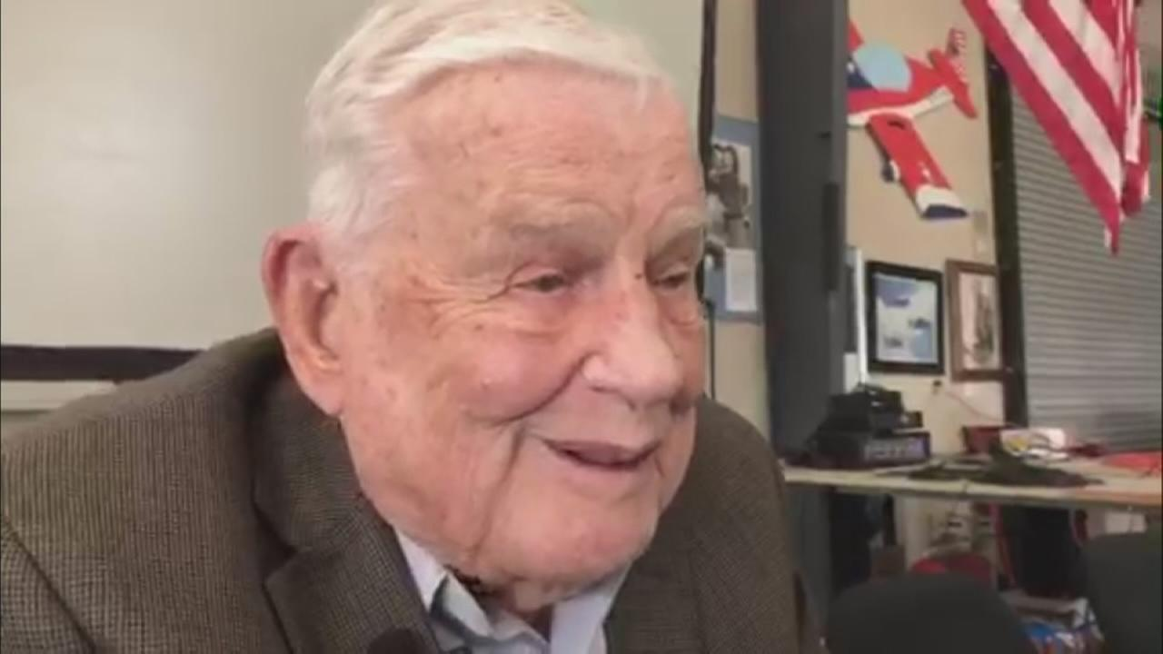Decorated WWII pilot honored in Central Valley