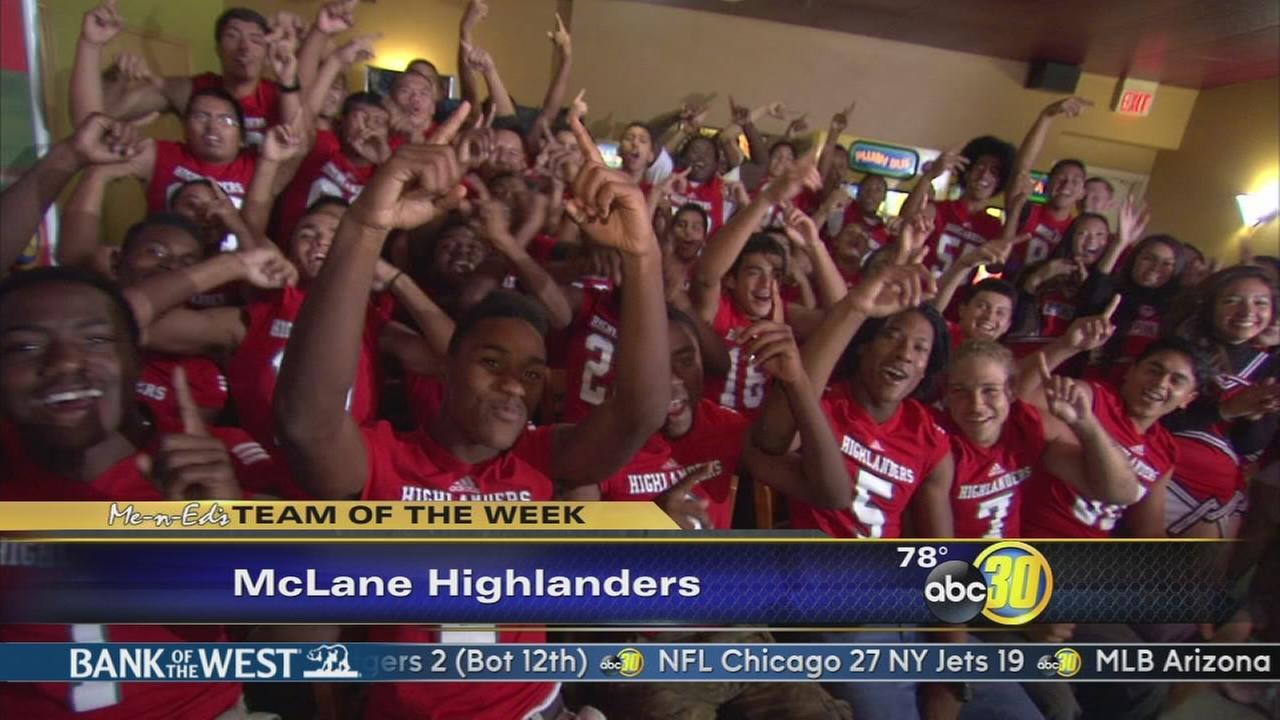 Me-N-Eds Team of the Week: McLane Highlanders