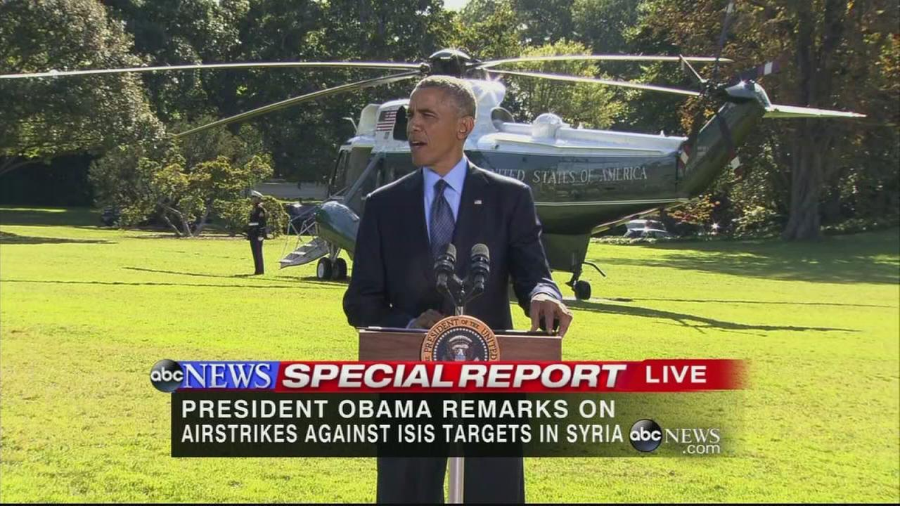 President Obama speaks on air strikes in Syria