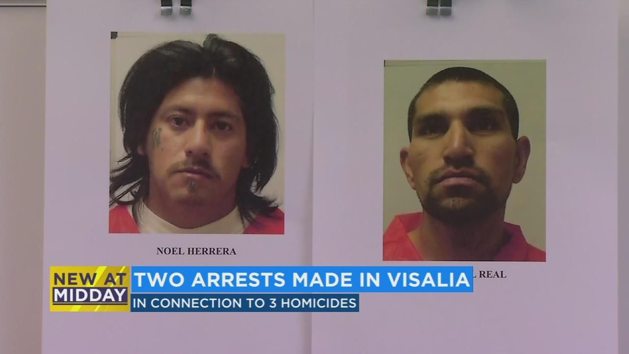 2 men arrested in connection with 3 separate Visalia homicides