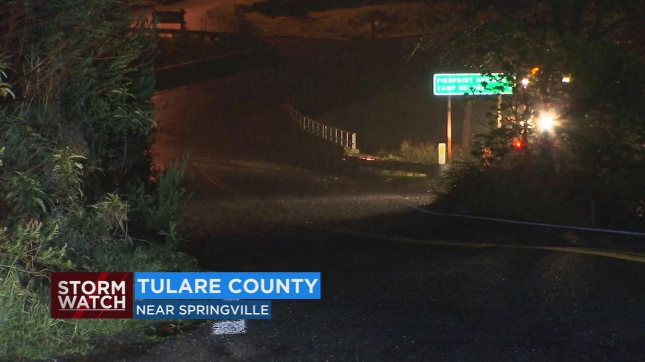 Mudslides in Tulare County and a rockslide near the Yosemite entrance caused by heavy rain