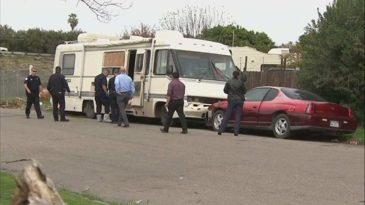 Man shot and killed in a trailer outside his family home in SE Fresno