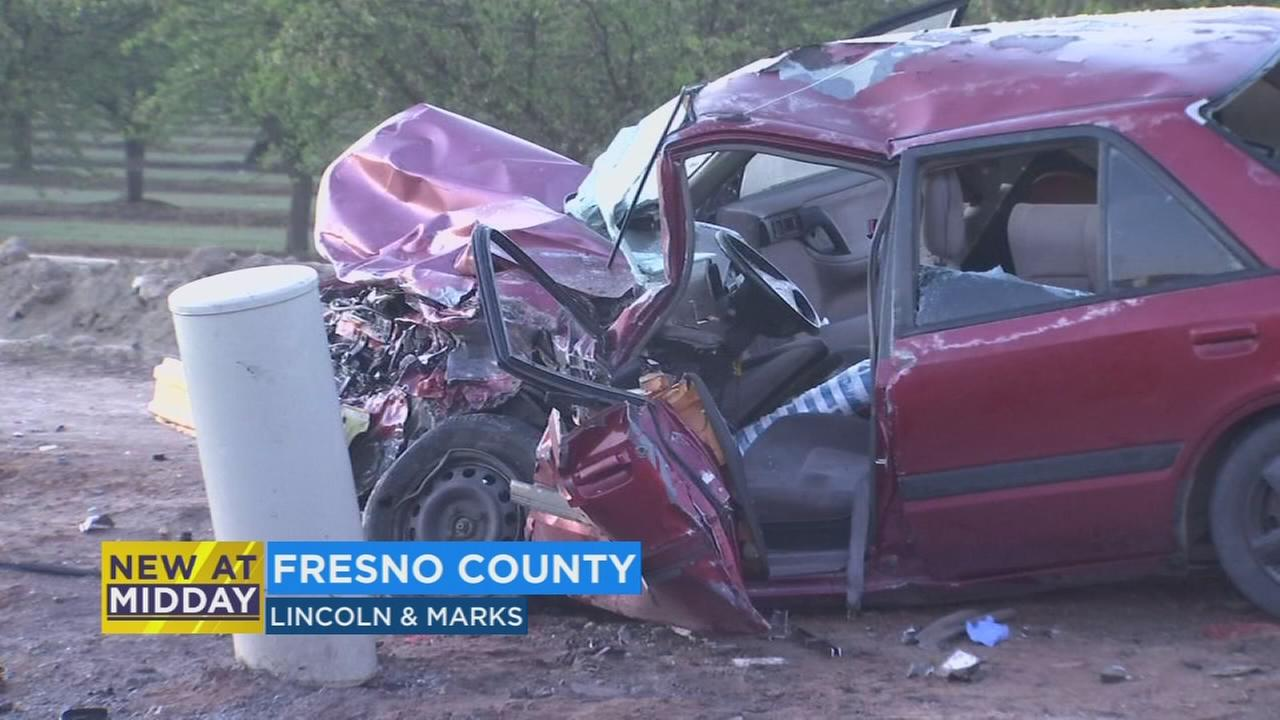 Man suffers major injuries after early morning crash in Fresno County