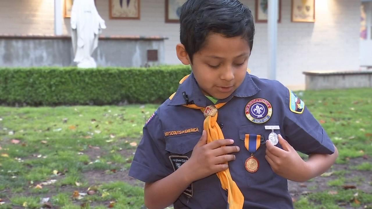 Special honor for young boy who saved a life