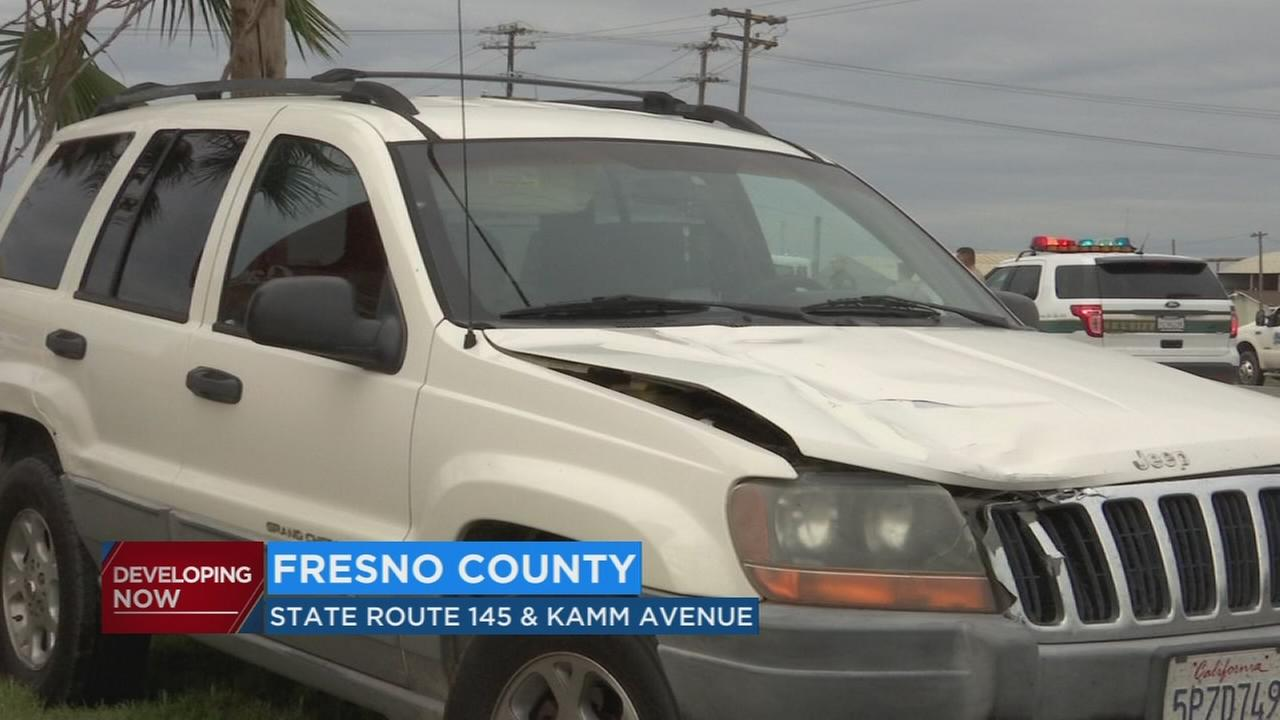 Man killed after being hit by Jeep while crossing street in Fresno County