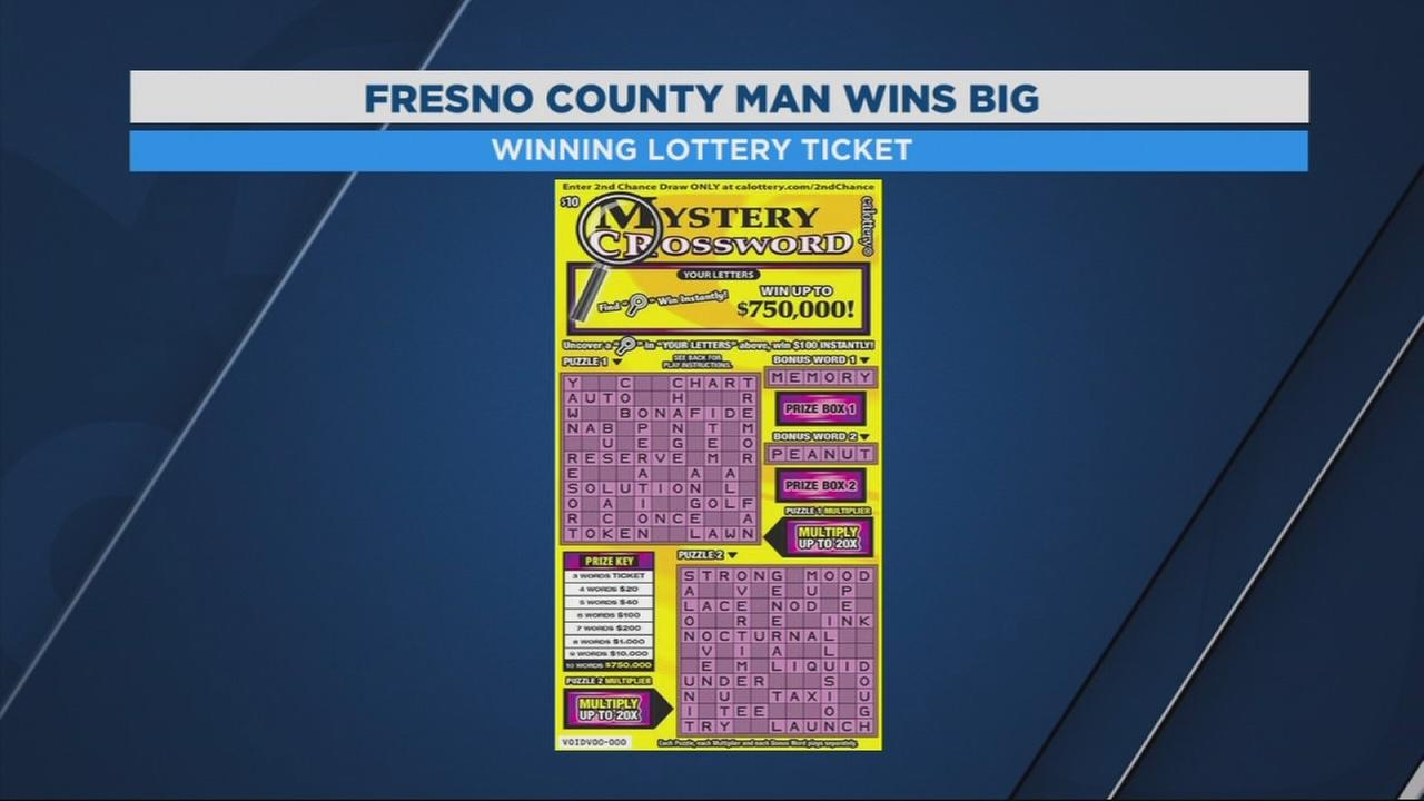 Fresno County Truck driver wins $750,000 from California lottery Scratchers vending machine