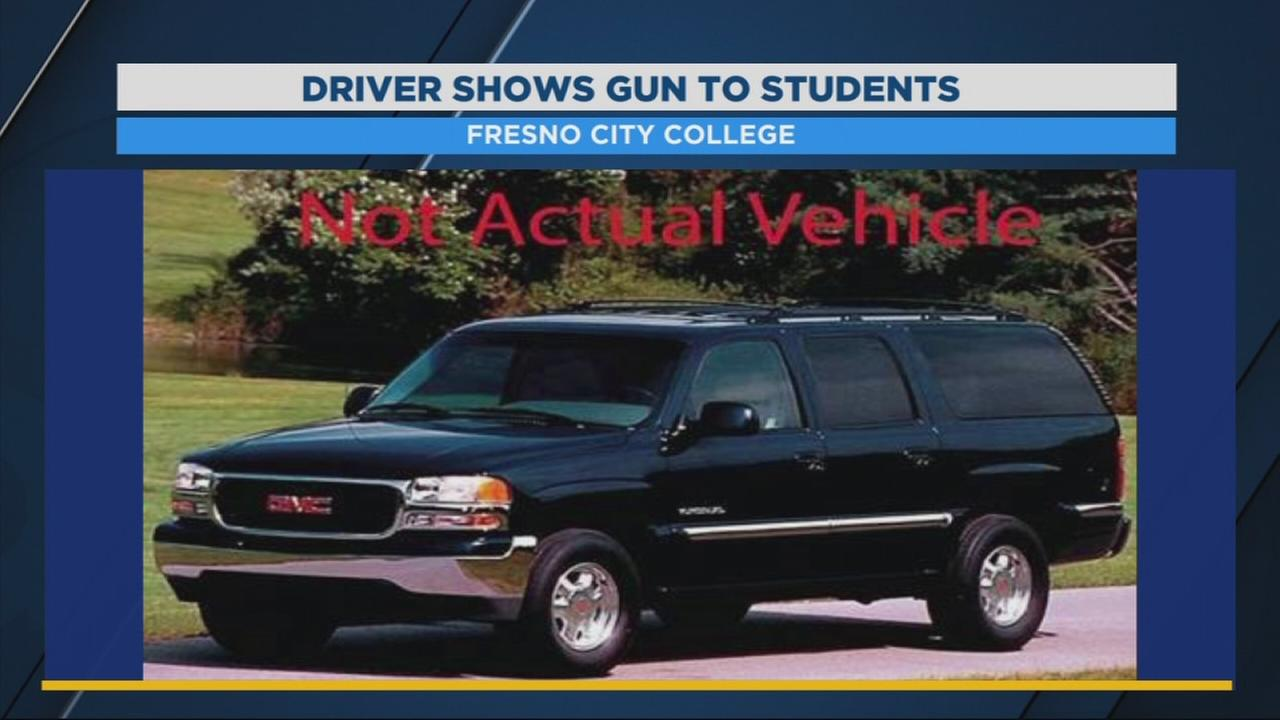 Fresno City College campus police on the lookout for driver who pulled gun on students