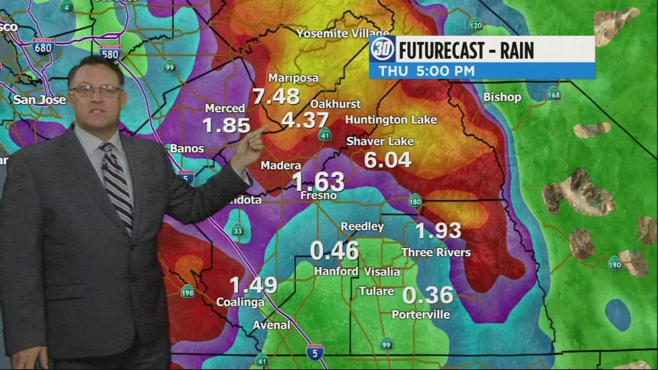 Models now predict storm could bring heavy rains to burn-scarred foothill areas over next 24 hours