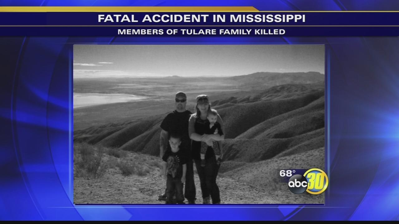 Tulare family dies in Mississippi crash, 6-year-old son survives
