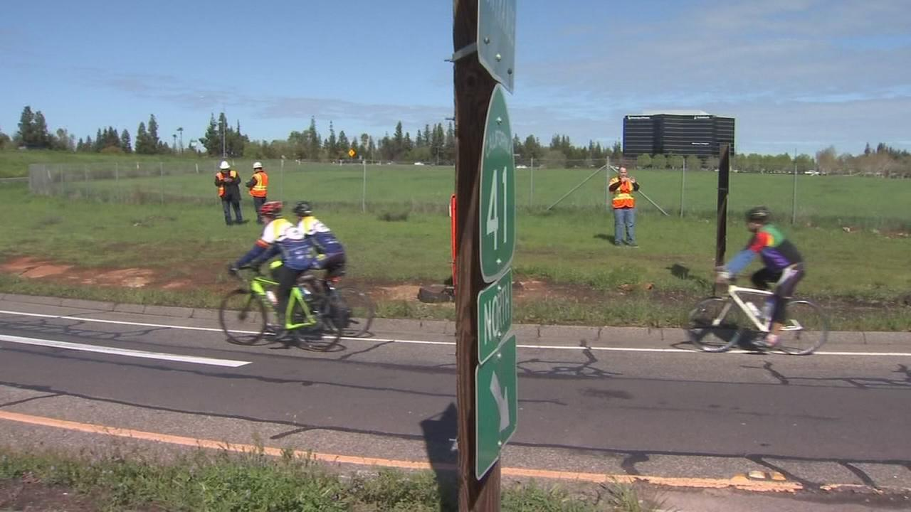 Cyclists rejoice! Caltrans unveils signs that allow cyclists to access a portion of Highway 41