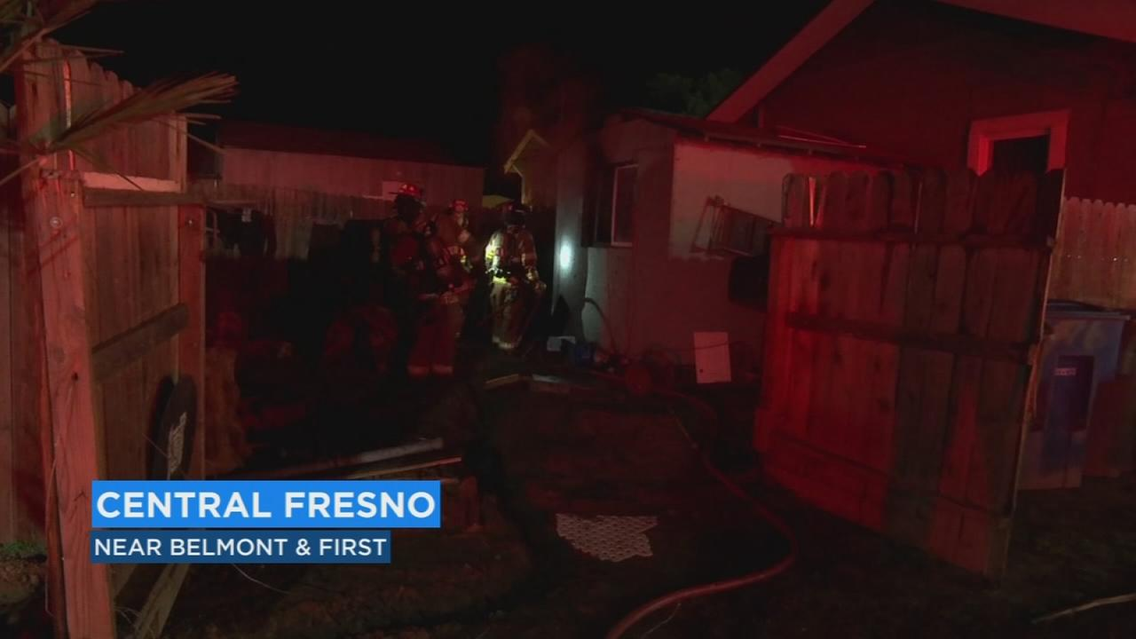 Firefighters manage to save family from home fire in Central Fresno