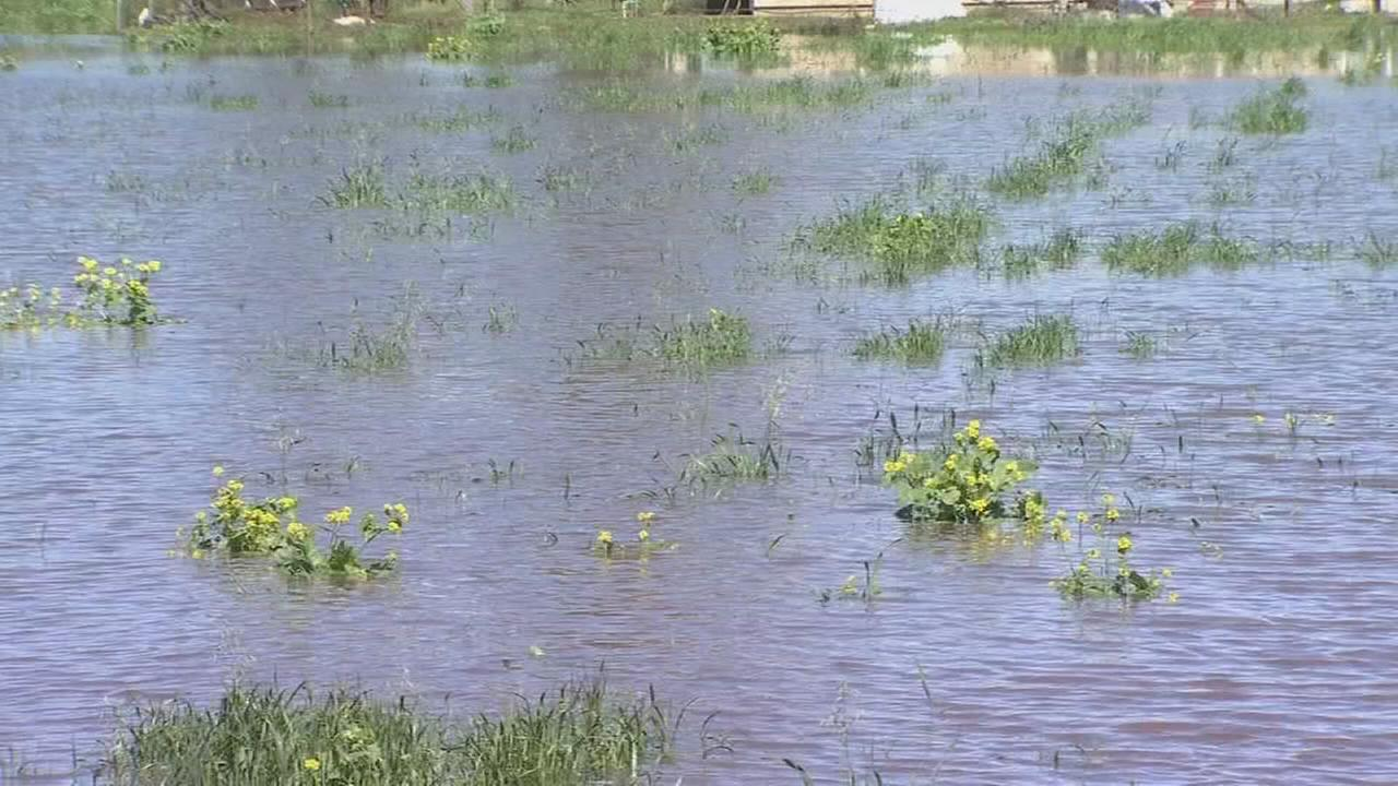 Clean-up efforts continue in Planada after recent storm cause creek to over flow