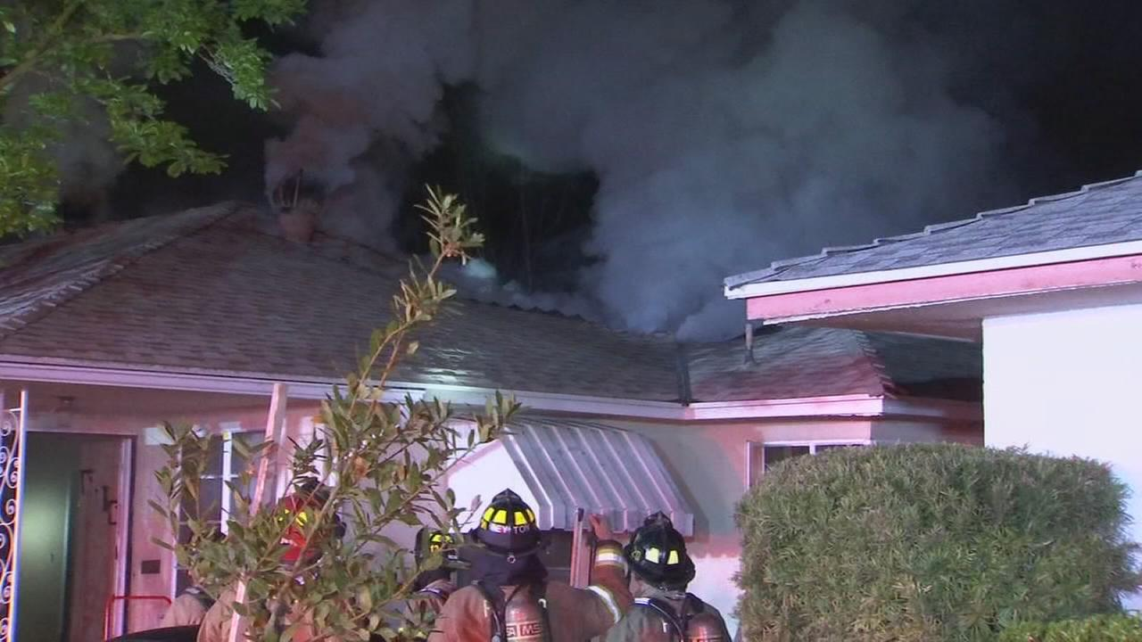Family forced from house after attic fire