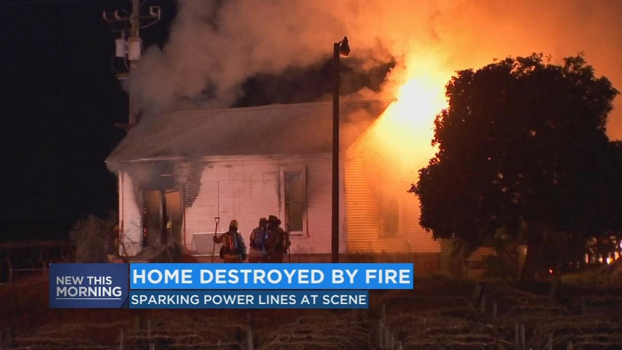 Fire destroys home, damages building in Fresno County