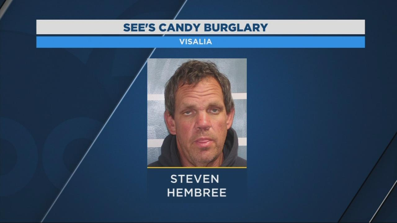 Crook with sweet tooth arrested for stealing candy from Seess Candy store in Visalia