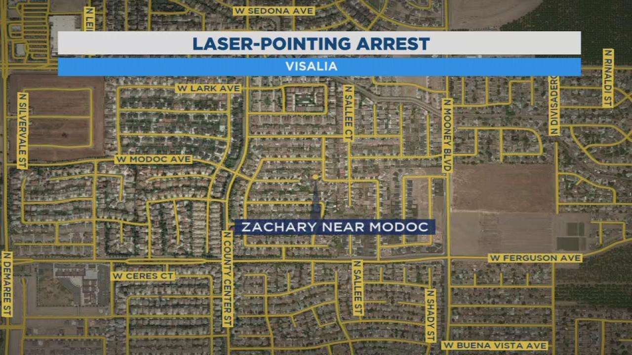 Visalia man arrested for shining laser at CHP helicopter