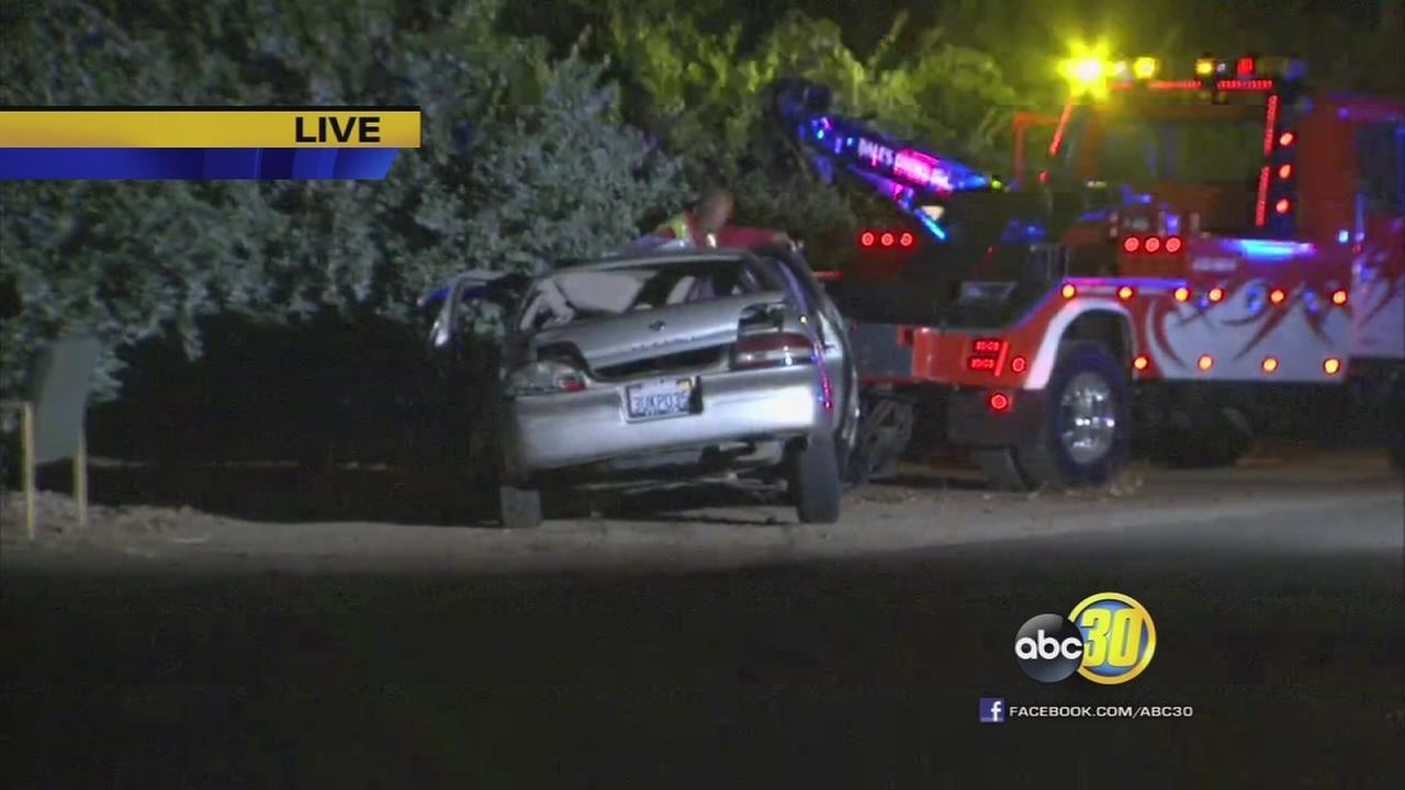 Man killed in suspected DUI crash near Reedley
