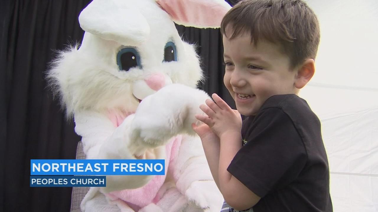 Easter bunny pays early visit at Fresno Peoples Church