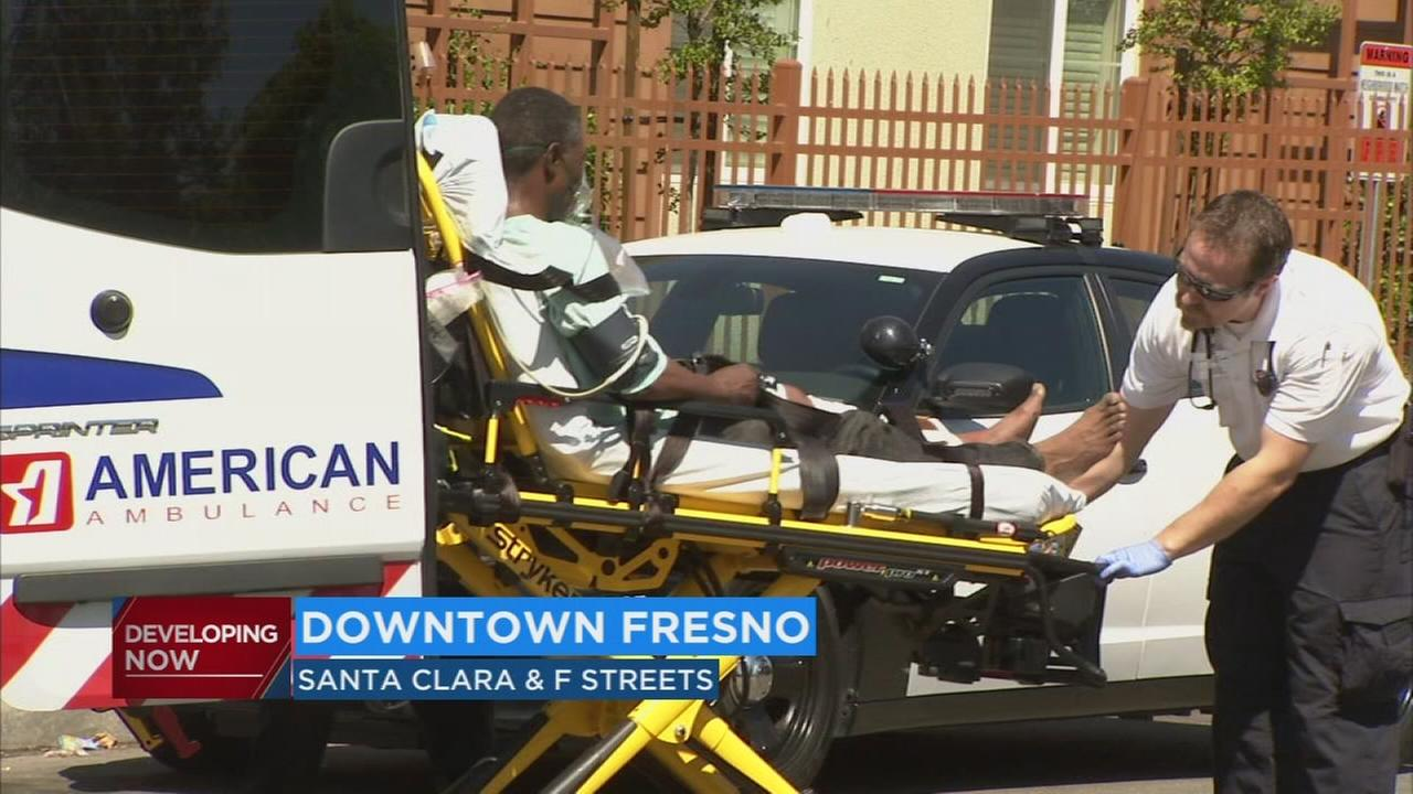 Fight breaks out in downtown Fresno, leaving man in hospital with gunshot wound