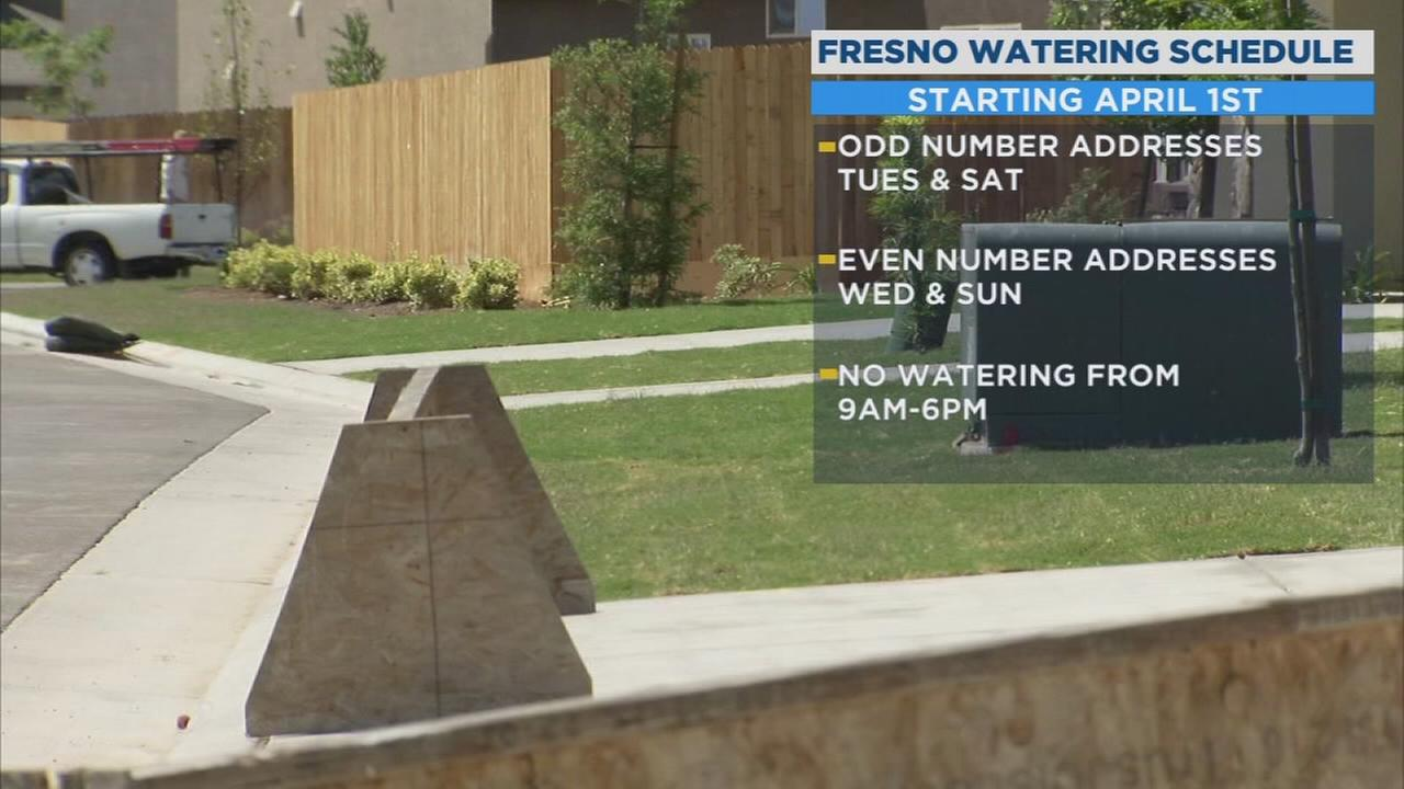 City of Fresno to begin two-day watering schedule