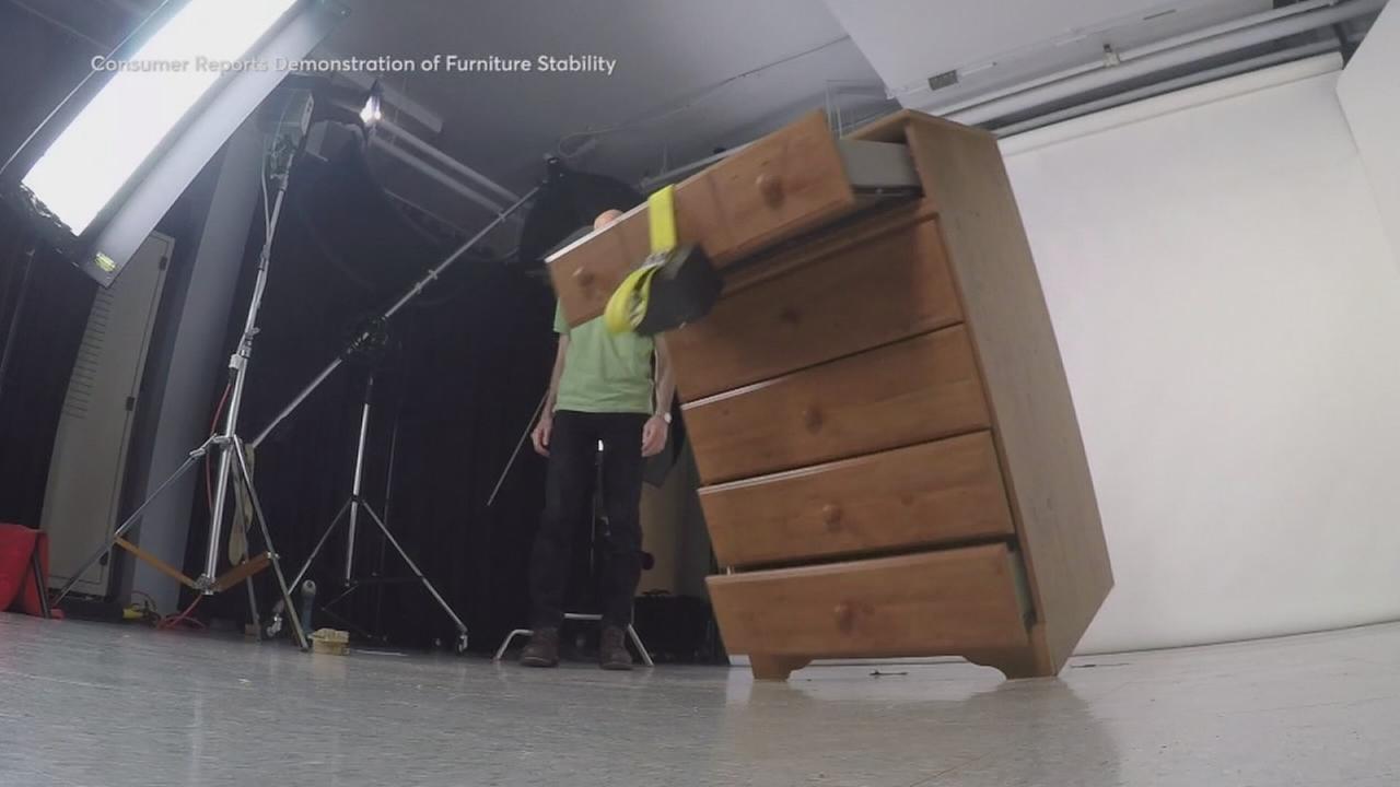 Furniture tip-over dangers
