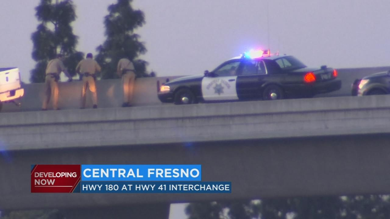 Possible suicide investigation on SB HWY 41 to EB HWY 180 connector