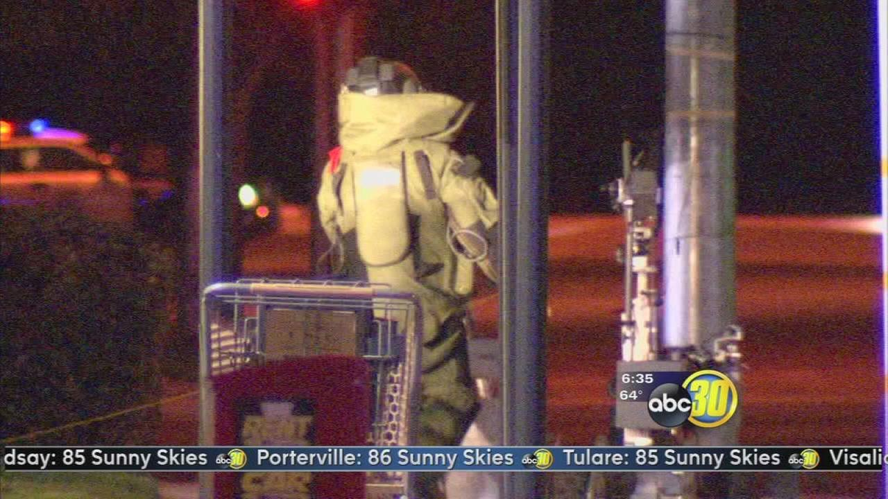 Police detonate a suspicious device in Northeast Fresno