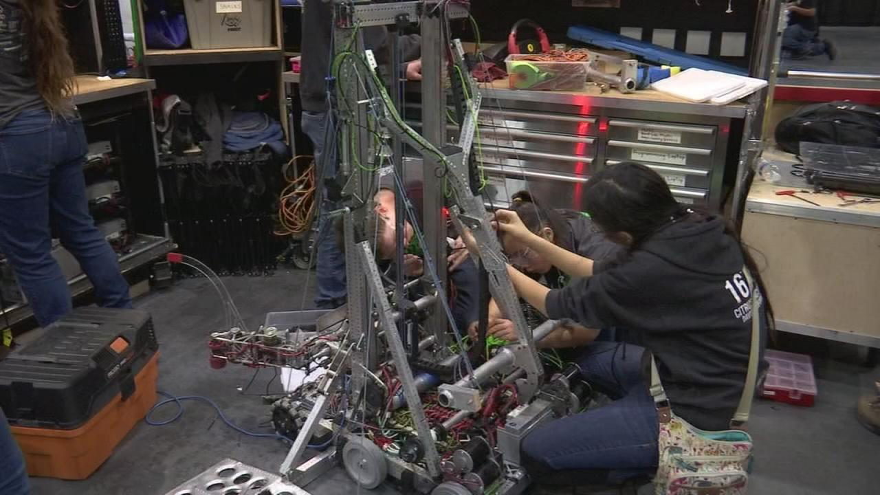 Local students compete for glory as their bots battle it out