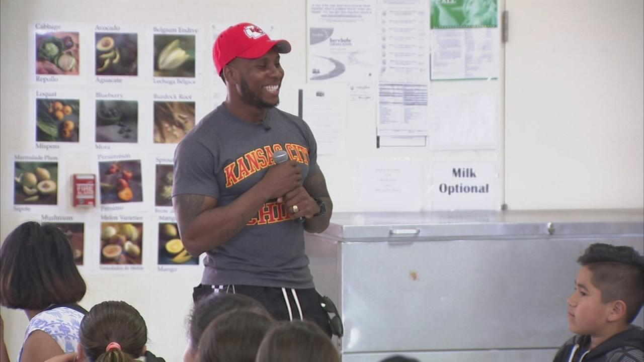 School visit by NFL star a golden opportunity