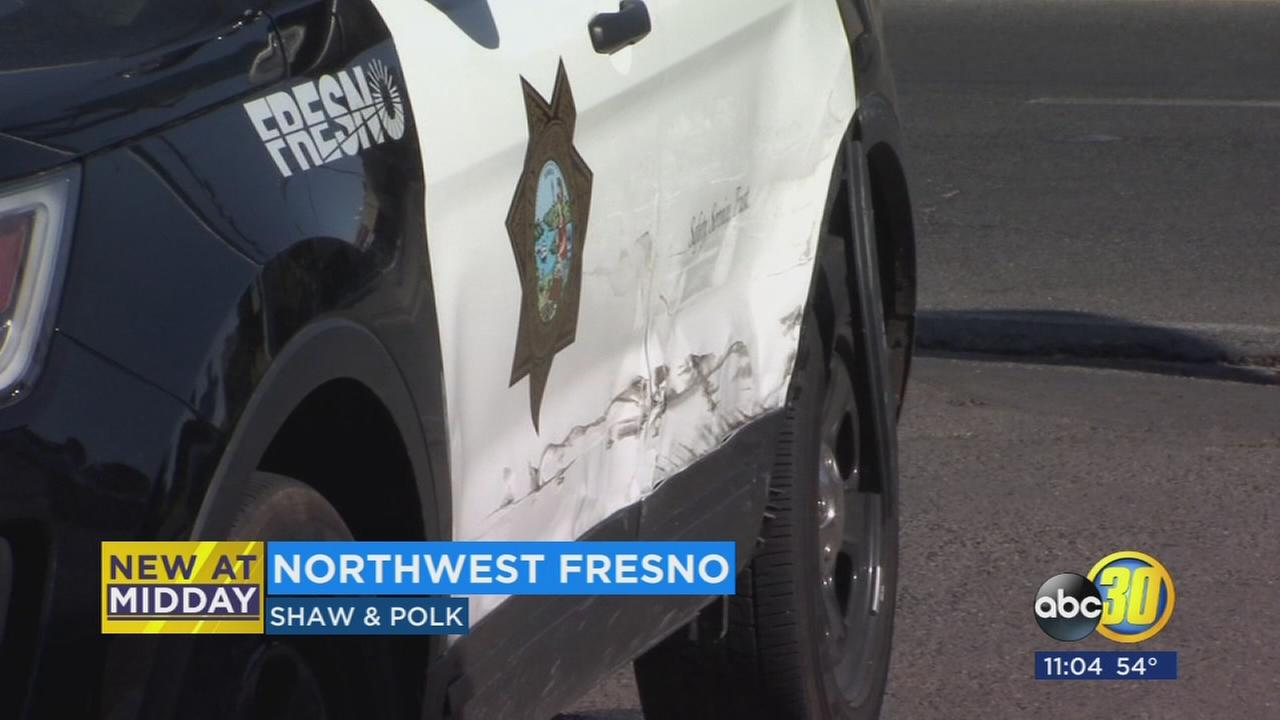 Fresno Police Office involved in minor crash in Northwest Fresno