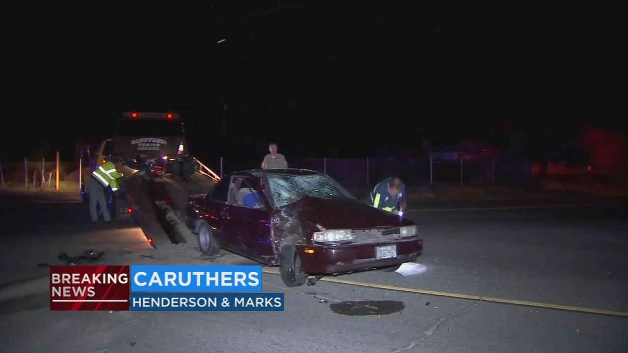 Motorcyclist dead after being hit by a vehicle in Caruthers