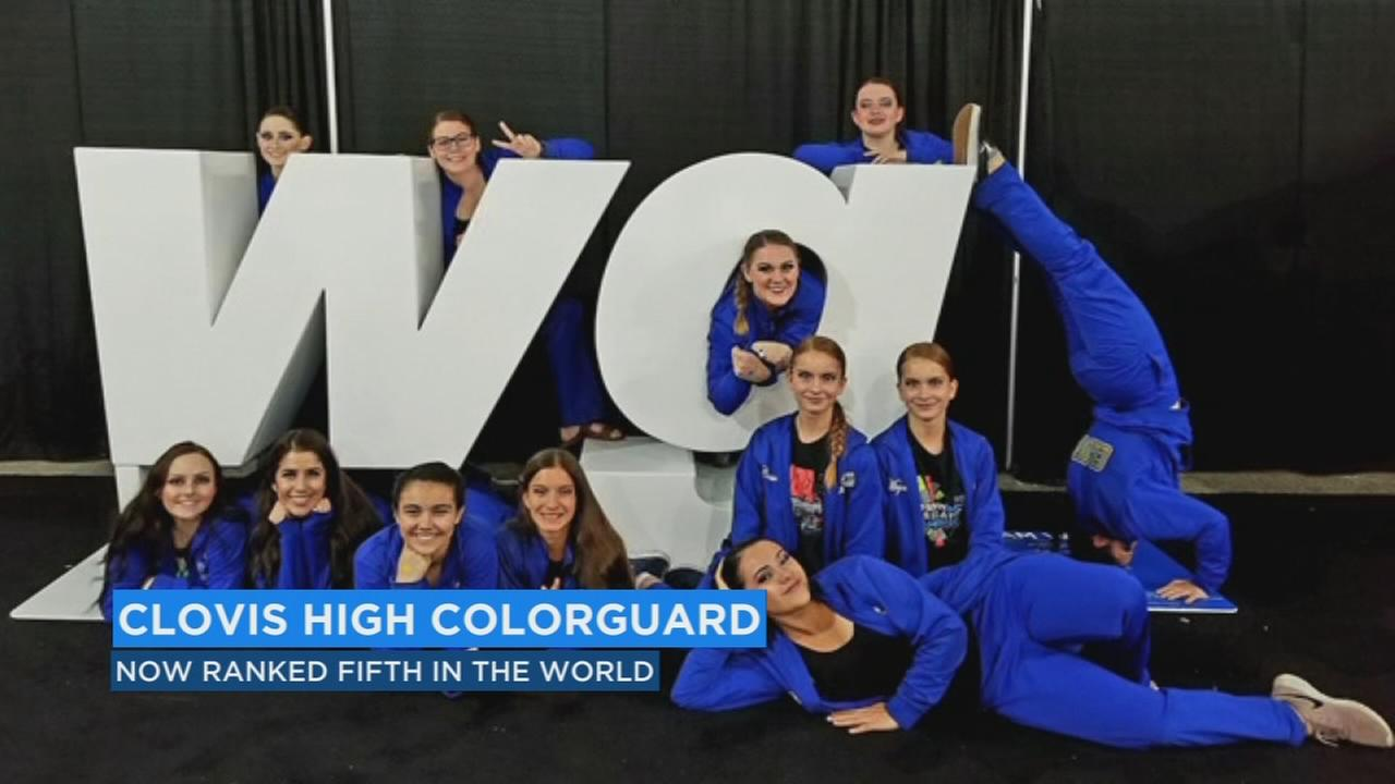 Clovis high color guard bringing home a title