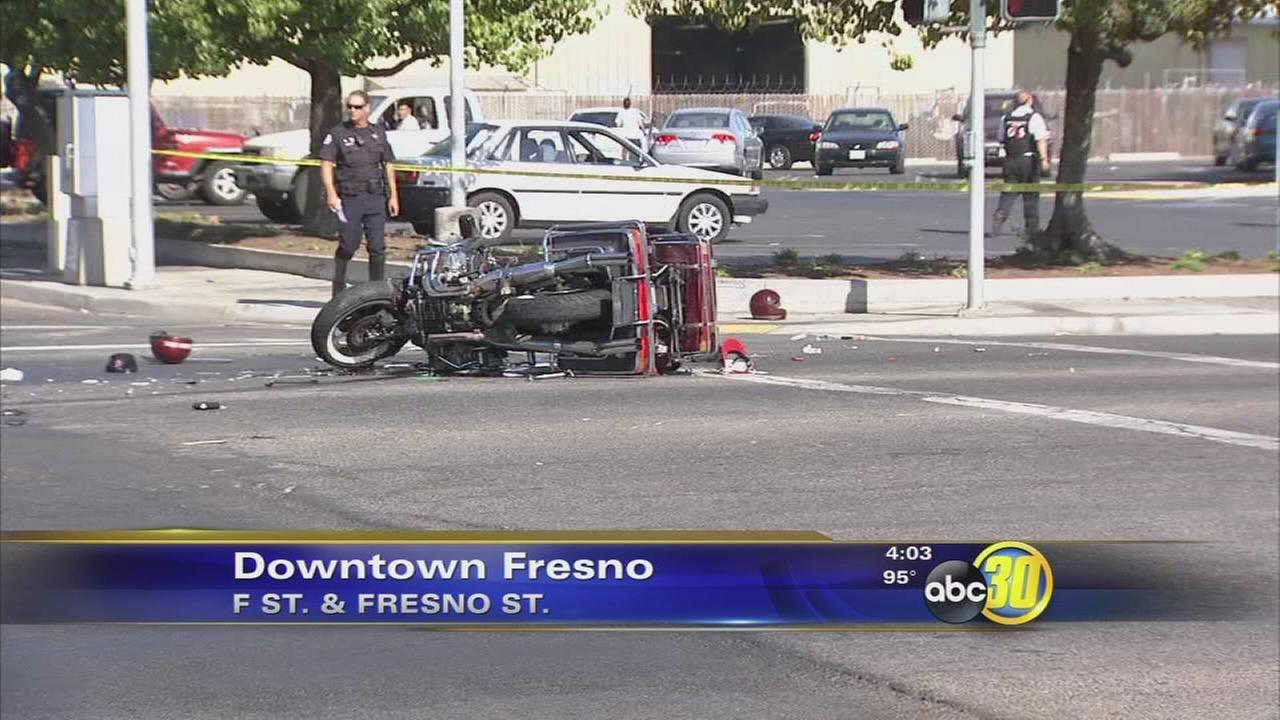 Motorcyclist killed in Downtown Fresno crash