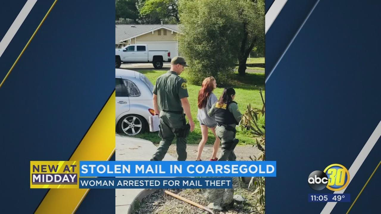 Woman arrested in Madera County for stealing mail from multiple homes over past 5 months