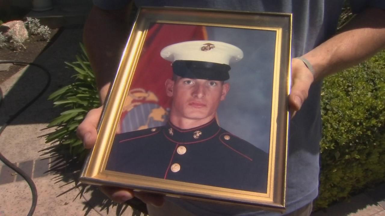Former marine recovering after being shot by shoplifter