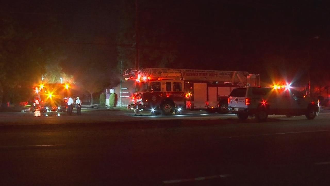 Fire crews investigating what caused a fire at Northeast Fresno business