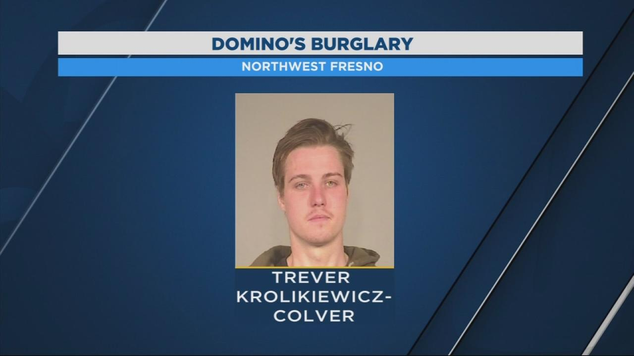 Clumsy robber trips and falls while attempting to steal money from Northwest Fresno Dominos