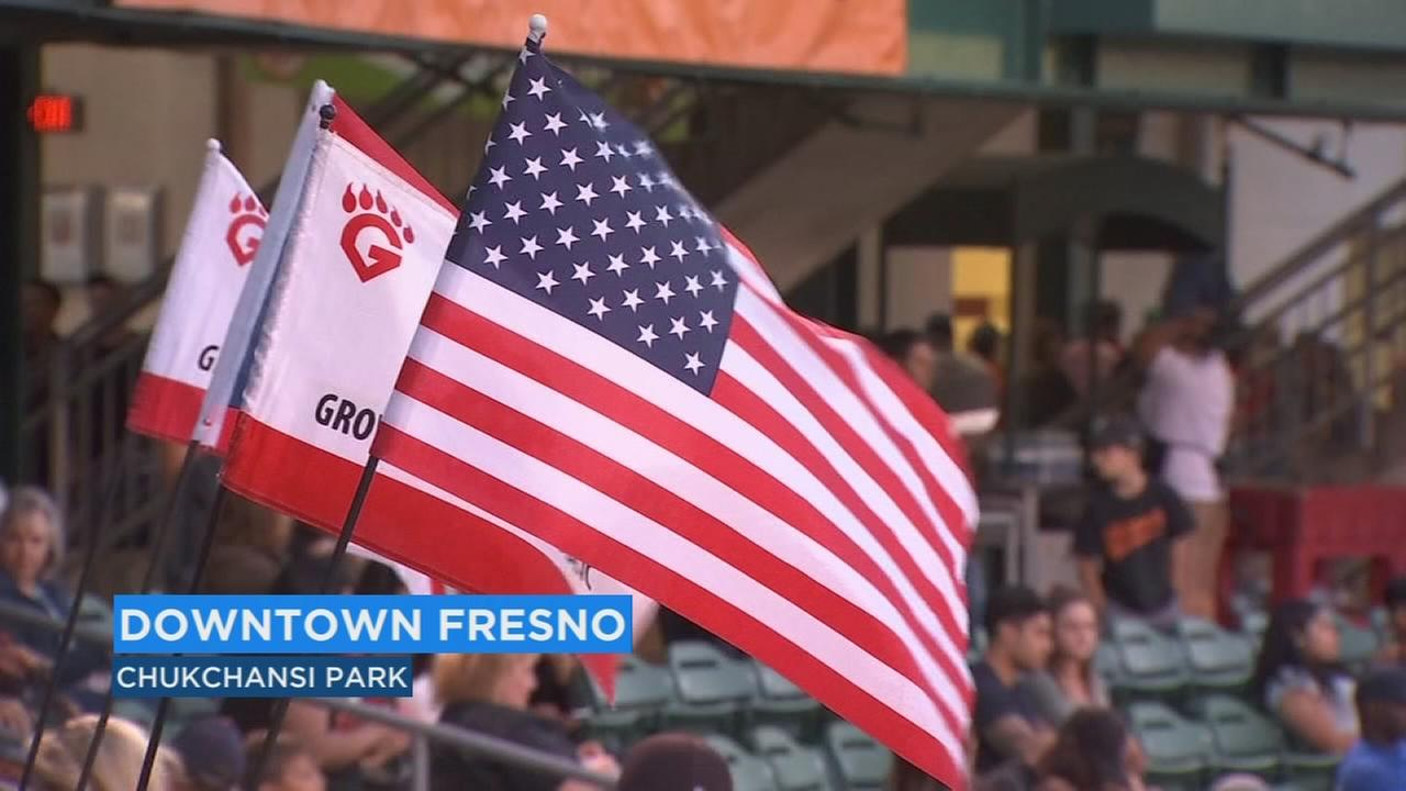 Vietnam veterans welcomed home at Fresno Grizzlies game