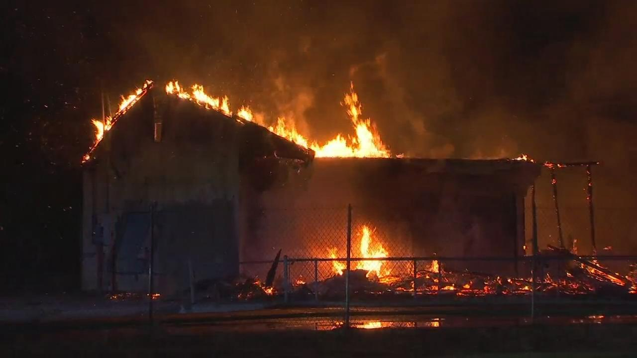 Warehouse fire in Southwest Fresno