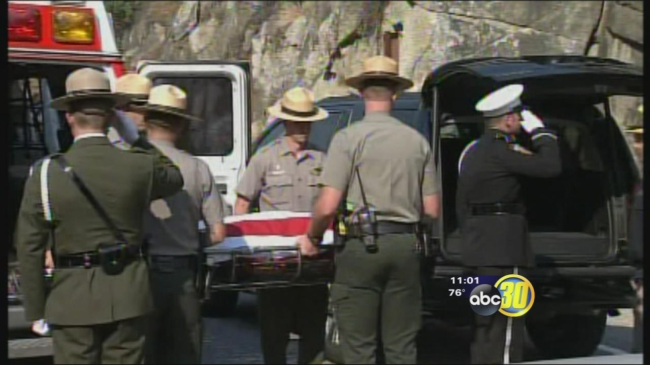 Honor guard removes pilot from Dog Rock Fire crash site