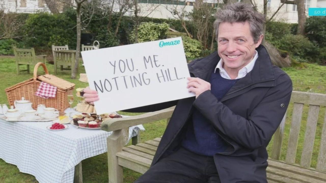 Chance to have lunch with Hugh Grant in Notting Hill