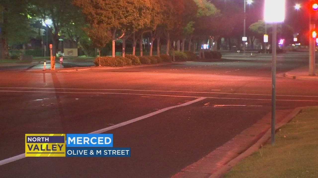 Man take to hospital after being hit by a car in Merced; police search for driver