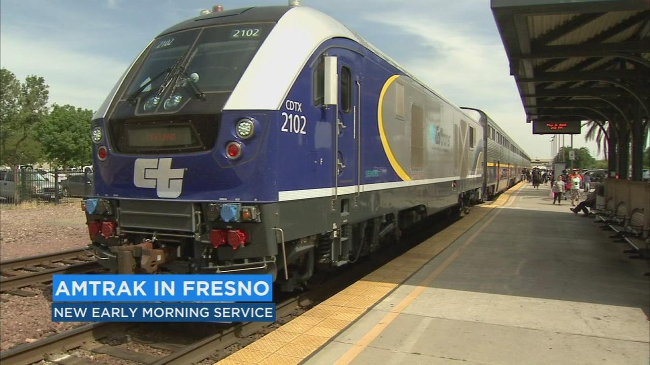 Inaugural morning Amtrak San Joaquin to Sacramento