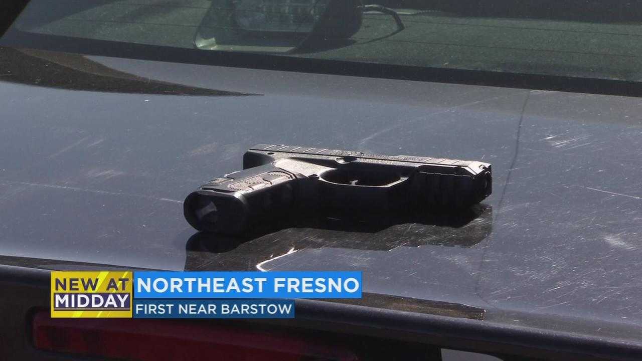 Father arrested in front of elementary school in Northeast Fresno for flashing bb gun at driver